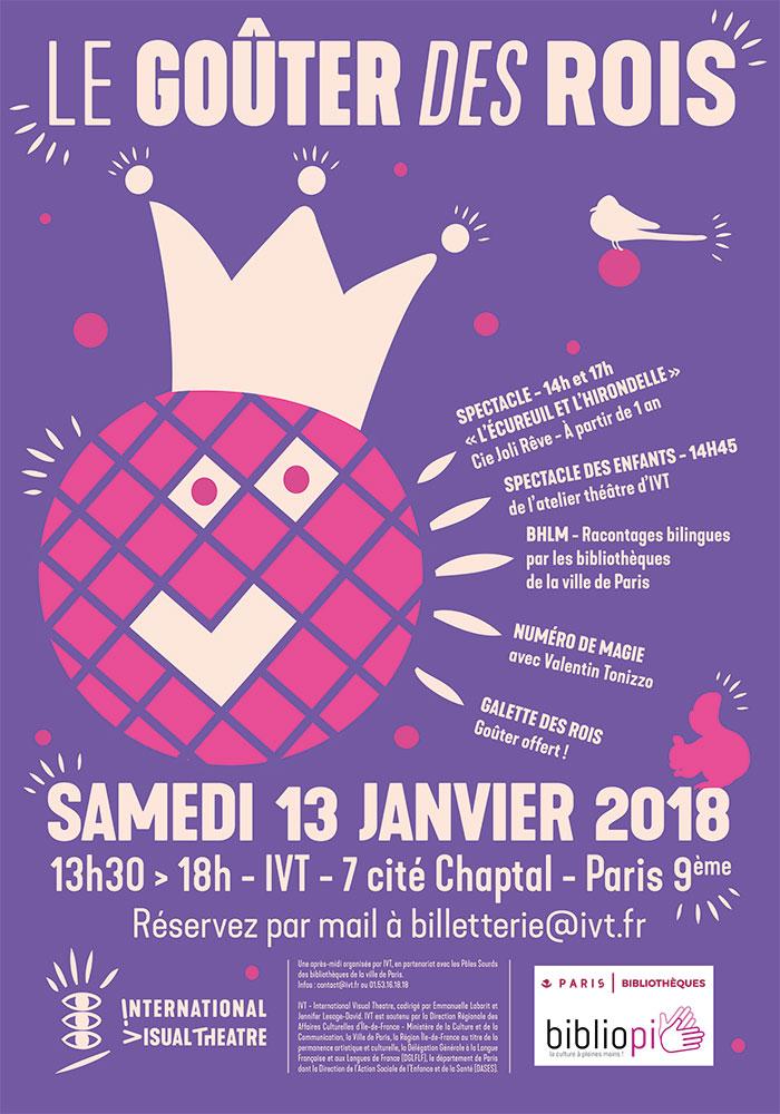 """""""Le Goûter des Rois"""" aura lieu le 13 janvier 2018 à l' IVT, à Paris."""